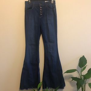Long Inseam High Rise Flare Jeans